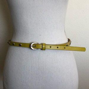 Lime green thin belt